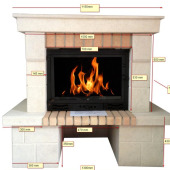 Fireplace surrounding